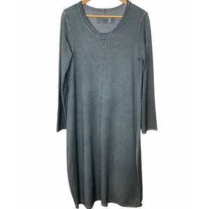 Luukaa Gray Scoop Neck Midi Lagenlook Dress 12